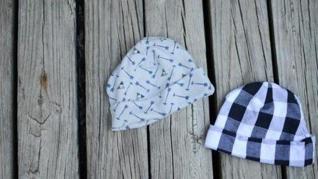 الگو کلاه نوزاد