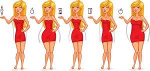 انواع فرم اندام زنان