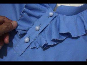 یقه لباس  آموزش برش و دوخت یقه لباس مناسب برای شومیز  مدل یقه