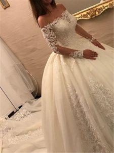 دامن لباس عروس پفی