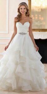 دوخت لباس عروس با تور ارگانزا